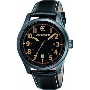 01.0541.105 Terragraph Mens Black Leather Band
